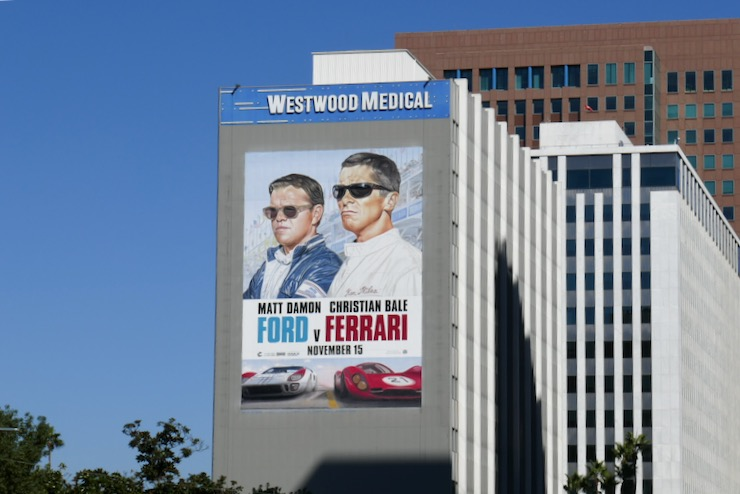 Giant Ford v Ferrari film billboard