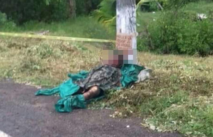 """""""Esto le va pasar a todo aquel que apoye"""", Hallan ejecutado abandonado con amenaza en San Blas."""