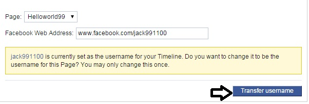 how to create a username on facebook