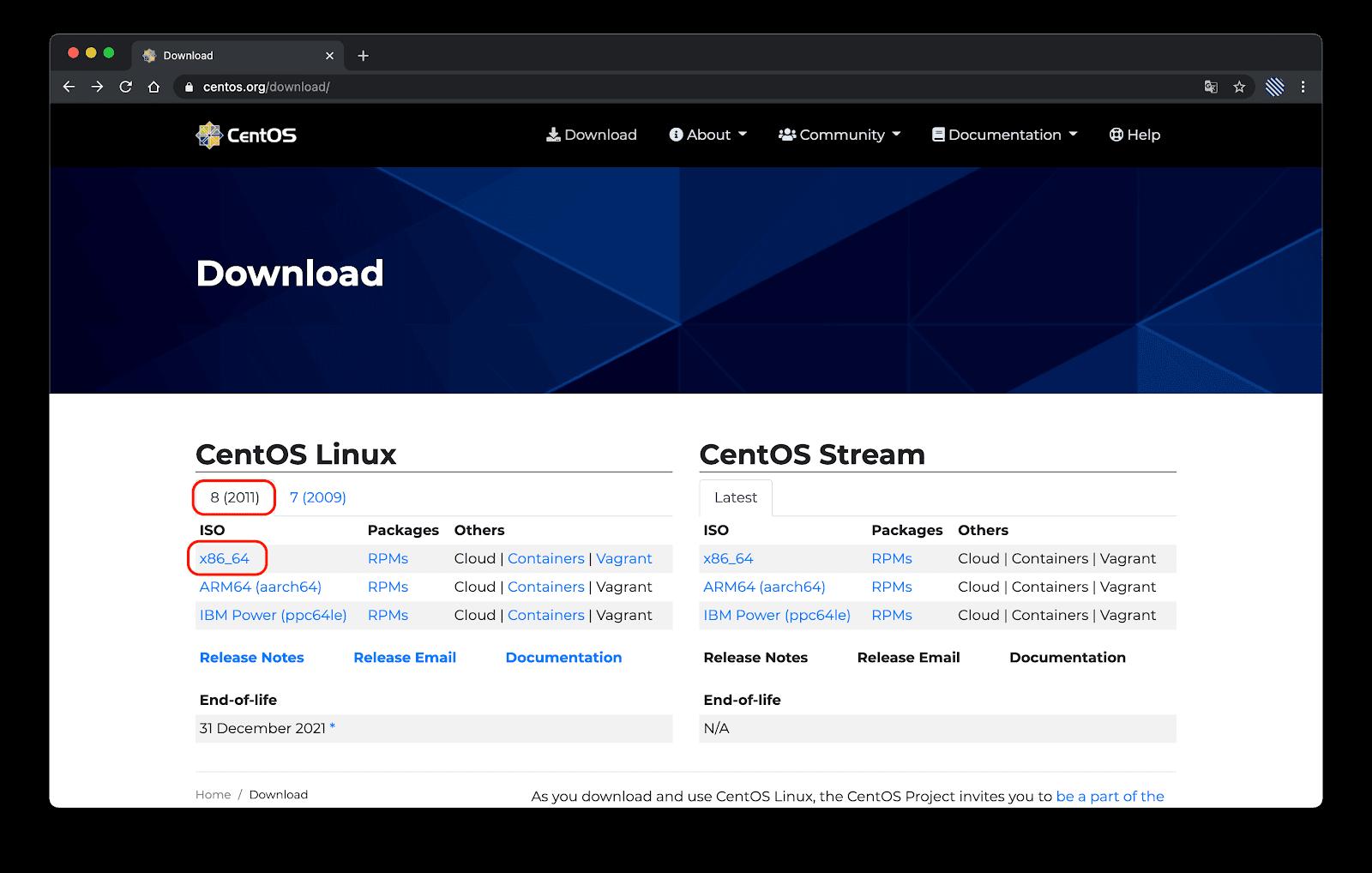 [리눅스] CentOS ISO 설치 파일 다운로드하기