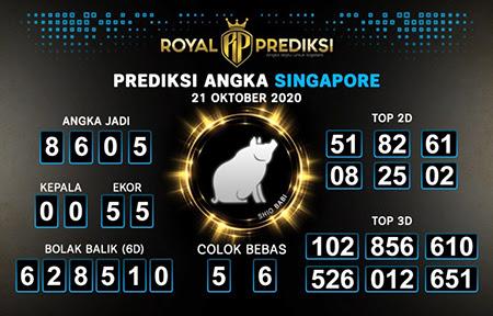 Royal Prediksi SGP Rabu 21 Oktober 2020