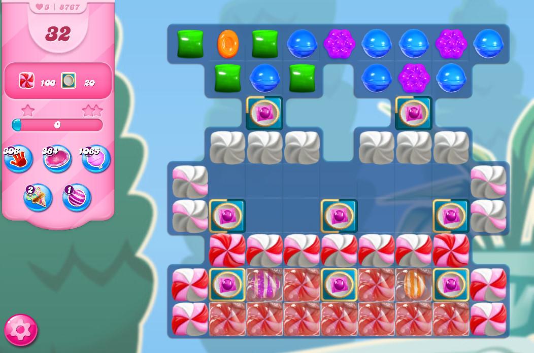 Candy Crush Saga level 8767