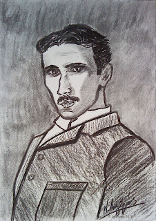 8376 - Nikola Tesla. Drawings of N. Lygeros  Post published: December 1, 2011 Category