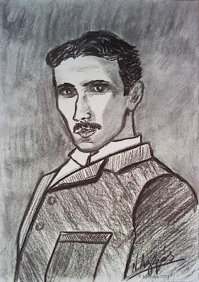 8376 - Nikola Tesla. Drawings of N. Lygeros  Post published: December 1, 2011 Category