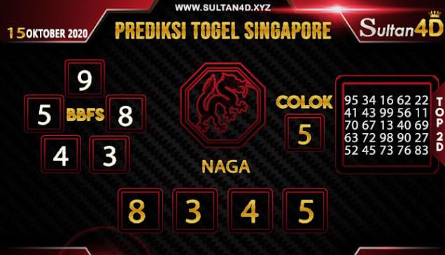 PREDIKSI TOGEL SINGAPORE SULTAN4D 15 OKTOBER 2020