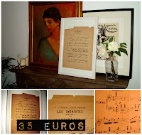 decorar con partituras antiguas y composiciones la pared