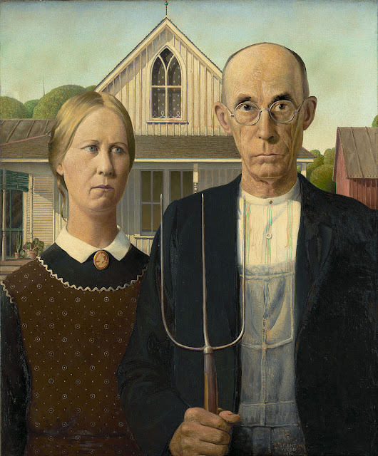 Grant Wood, American Gothic (1930), Instituto de Arte de Chicago.