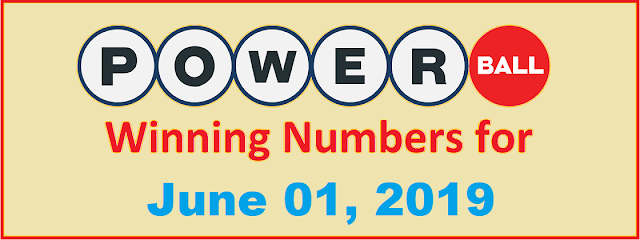 PowerBall Winning Numbers for Saturday, June 01, 2019