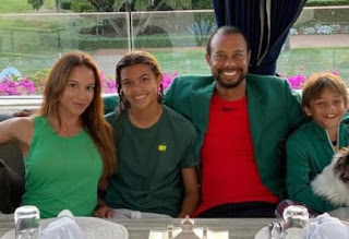 Tiger Woods With His Children