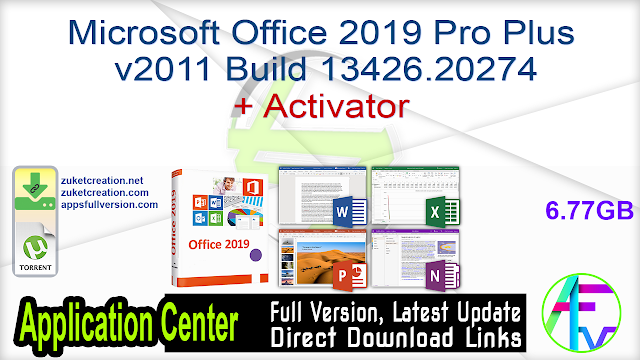 Microsoft Office 2019 Pro Plus v2011 Build 13426.20274 + Activator