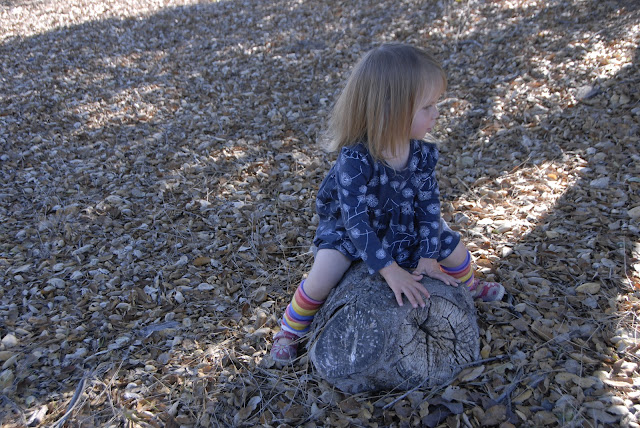granddaughter on tree stump: LadyD Books