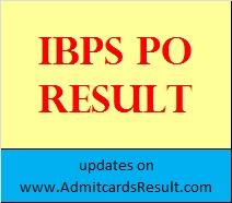 IBPS PO Main Exam Result 2015