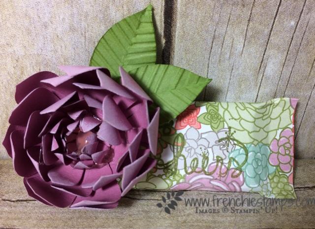 Succulent Framelis, Paper Flower, stampin'Up!