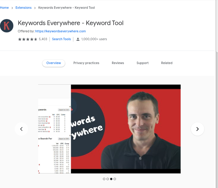 Keywords Everywhere - Rank on Google using free SEO tools