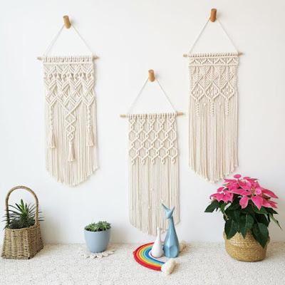Macrame Boho Tapestry Wall