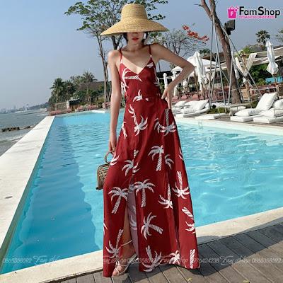 Shop bán váy maxi đi biển tại Hàng Chiếu