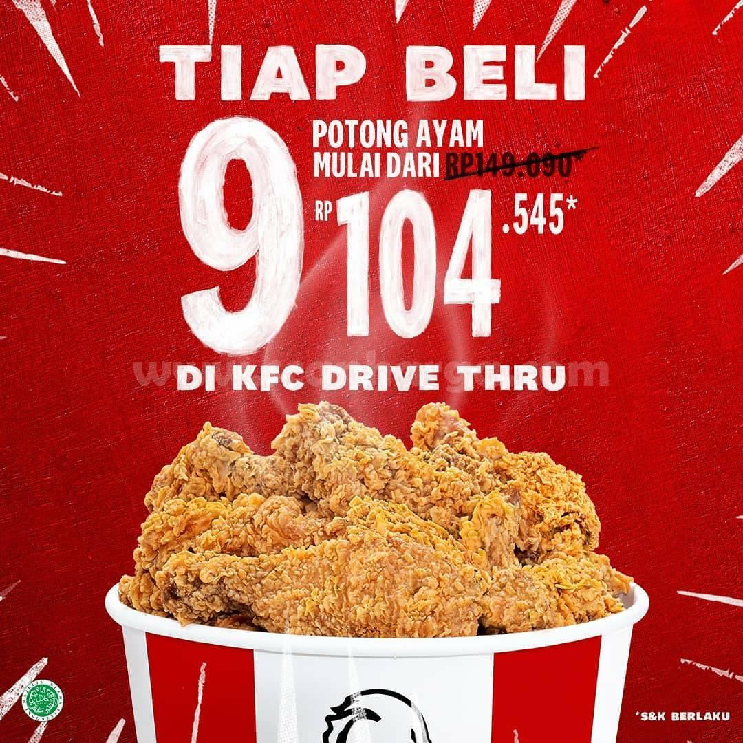 Promo KFC Drive Thru: GRATIS 1 menu Goceng tiap Beli 9 Potong Ayam 1