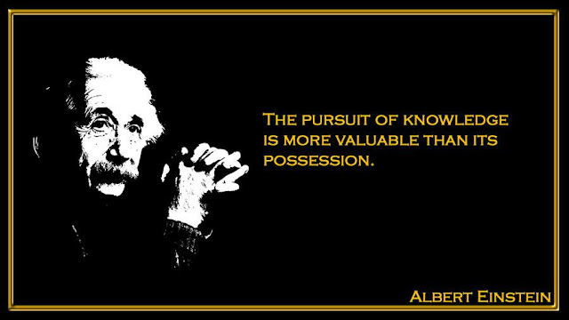 The pursuit of knowledge is more valuable than its possession Albert Einstein inspiring quotes
