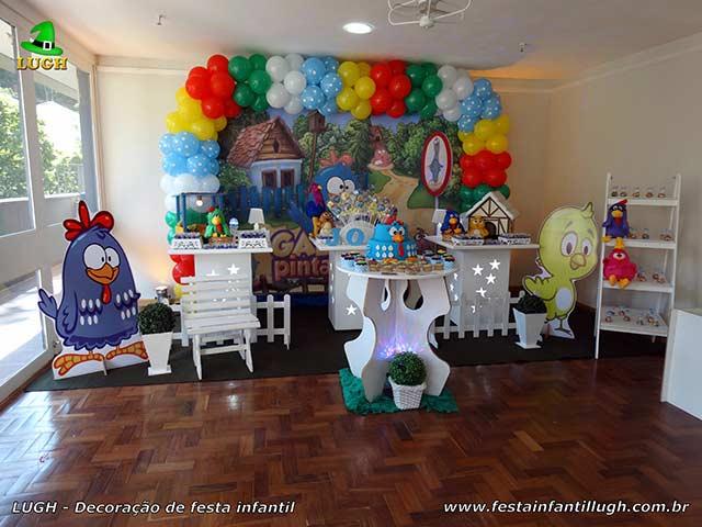 Decoração temática provençal da Galinha Pintadinha - Festa de aniversário feminino