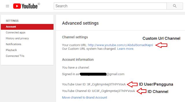 Cara Mengetahui Id Channel Youtube