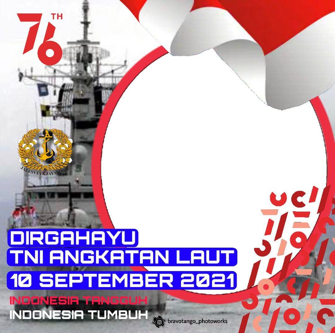 Download Bingkai Foto Twibbon HUT TNI AL ke-76, 10 September 2021