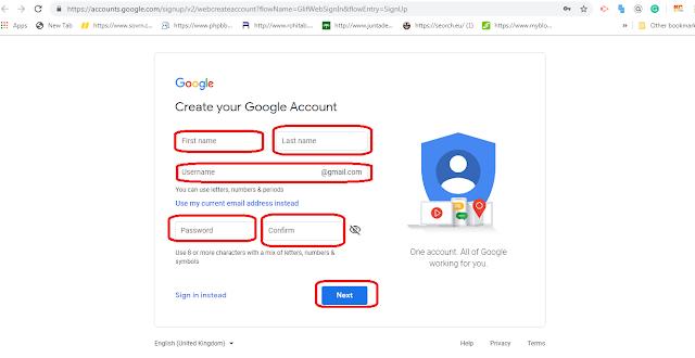 create Gmail Account image
