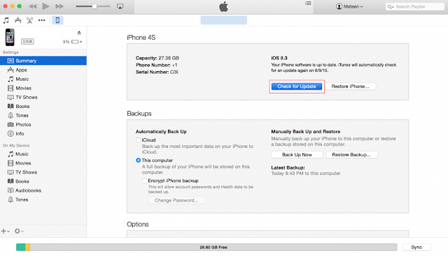 iTunes iOS IPSW File Installation