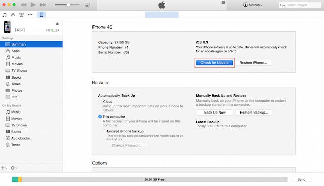 iTunes iOS IPSW File Installation