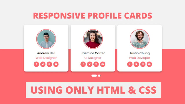 CSS Responsive Profile Cards with Slider