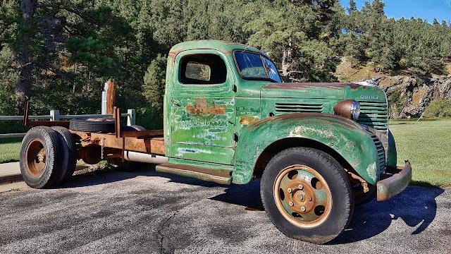 A weathered truck along a South Dakota road...