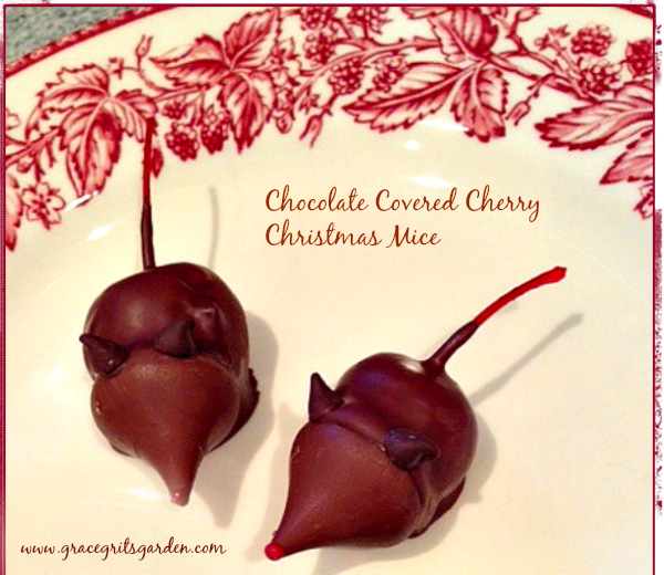 Chocolate Covered Cherry Christmas Mice - grace grits and ...