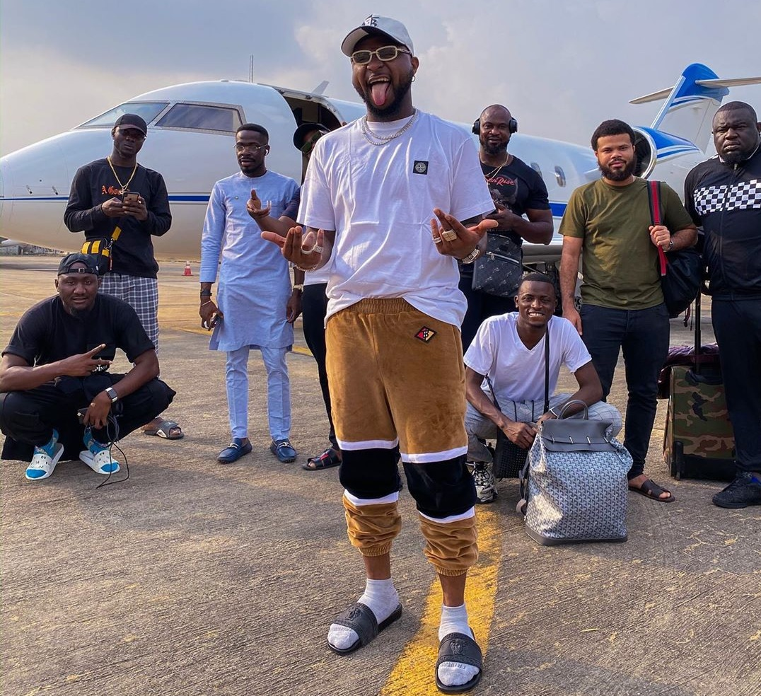 Davido Welcomes Cardi B As She Arrives Nigeria Ahead Of Livespot X Festival In Lagos