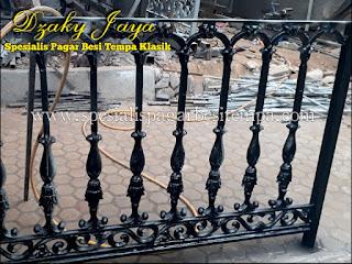 Contoh Model Balkon Besi Tempa Modern Klasik milik Dzaky Jaya.