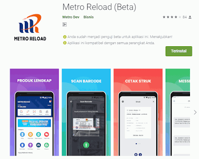 Aplikasi Metro Reload