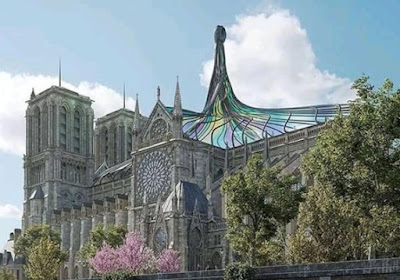 Catedral de Notre Dame y su nuevo techo.