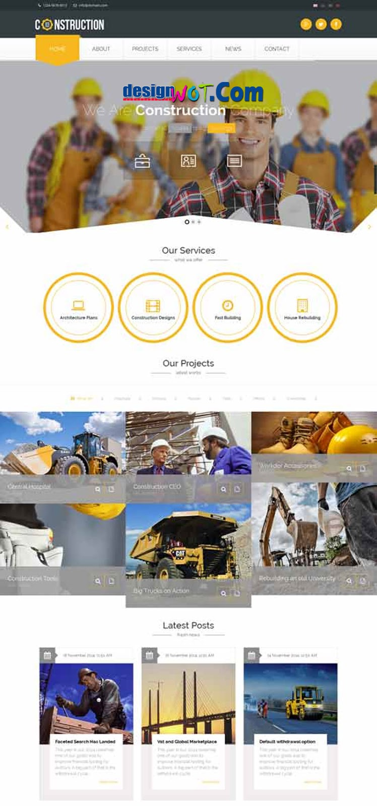CONSTRUCTION Responsive HTML Template