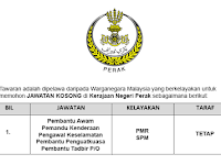 Jawatan Kosong di Kerajaan Negeri Perak