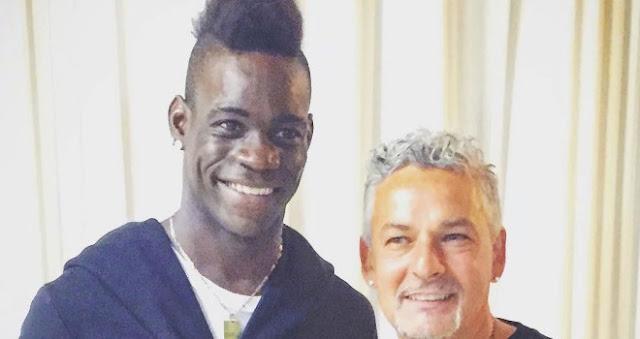 Mario Balotelli dan Roberto Baggio