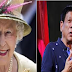 BREAKING NEWS:QUEEN ELIZABETH II REQUESTS TO MEET DUTERTE IMMEDIATELY!!IM REALLY PROUD OF YOU