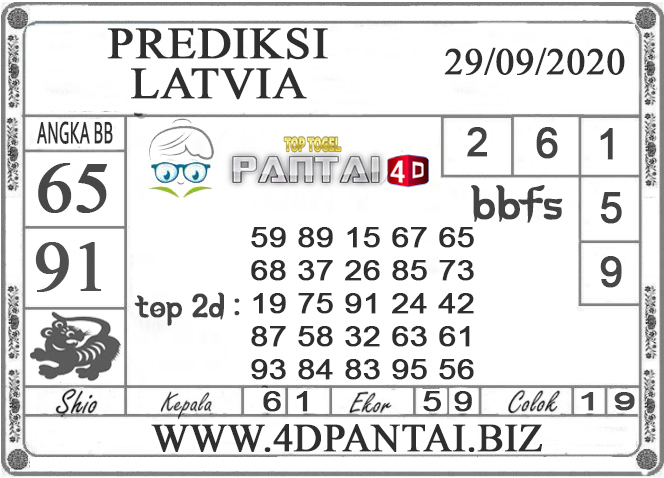 PREDIKSI TOGEL LATVIA PANTAI4D 29 SEPTEMBER 2020