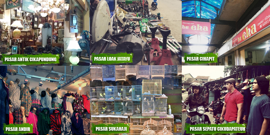 Wisata Pasar Terkenal  di Bandung