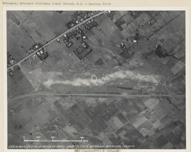 Landing field in Batangas Town, date taken unknown.  Image source:  United States National Archives.