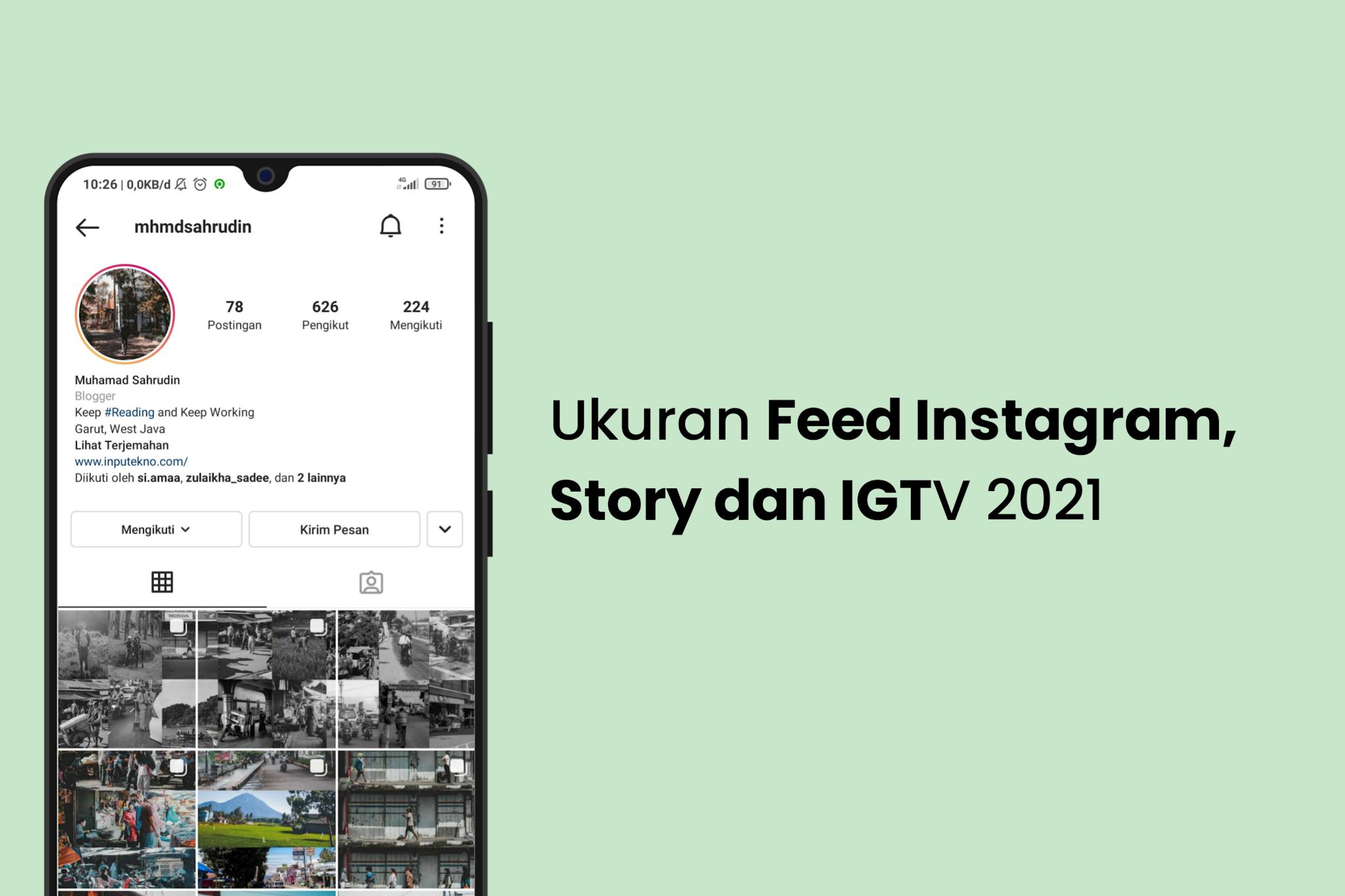 Ukuran Feed Instagram, Story dan IGTV  2021