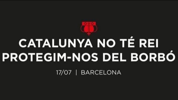 """Cadenas humanas ante la visita de Felipe VI: """"Cataluña no tiene Rey. Protejámonos del Borbón"""""""