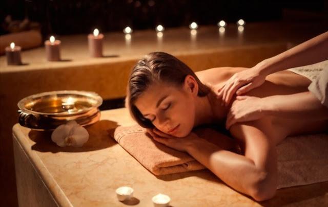 Girl Doing nuru massage in massage spa