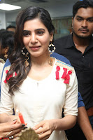 Samantha Ruth Prabhu Smiling Beauty in White Dress Launches VCare Clinic 15 June 2017 079.JPG