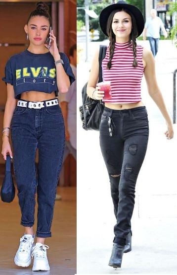 Madison Beer, Victoria Justice, Looks estilosos com calça jeans