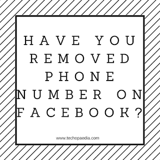 Have you removed phone number on Facebook?