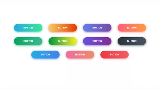 Gradient Buttons With Glint On Hover