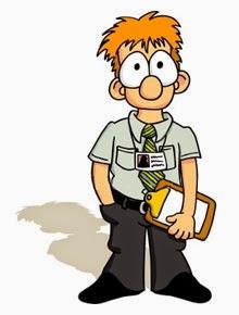 Funny young salesman cartoon joke picture